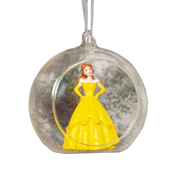 Bola de Navidad Bella Princesa en 3D Disney